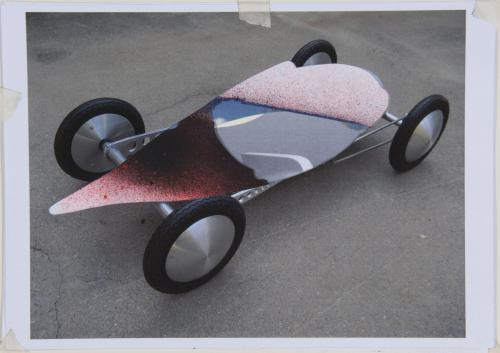 bellyracer 2015 - papercollage 29 x 42 cm