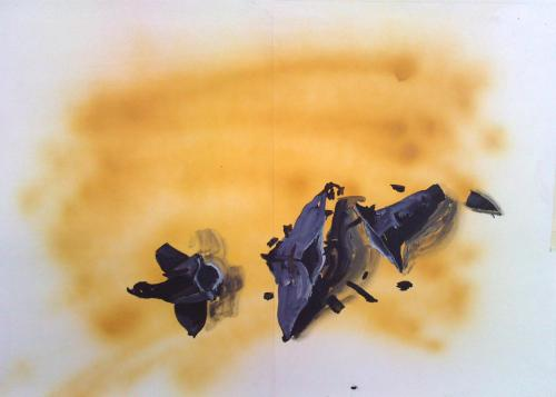 into pieces 2010 42x57cm oil  airbrush on paper